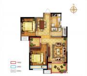 禹洲中央广场一期C2户型2室2厅83.53㎡