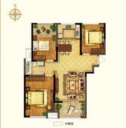 禹洲中央广场二期A1户型3室2厅107.74㎡
