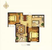 禹洲中央广场二期B3户型2室2厅84.85㎡