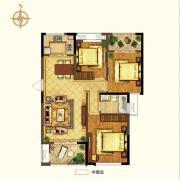 禹洲中央广场二期B2户型3室2厅108.93㎡