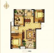禹洲中央广场二期B1户型3室2厅99.1㎡