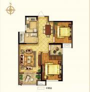 禹洲中央广场二期A3户型2室2厅86.26㎡