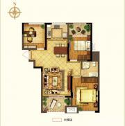 禹洲中央广场二期A2户型3室2厅93.41㎡