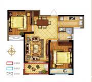 禹洲中央广场一期B3户型2室2厅85.32㎡