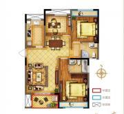 禹洲中央广场一期B2户型3室2厅113.97㎡