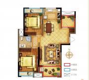 禹洲中央广场一期B1户型3室1厅97.88㎡