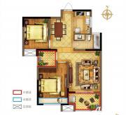 禹洲中央广场一期A2户型2室1厅85.67㎡
