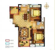 禹洲中央广场一期A1户型2室1厅95.65㎡