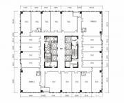 绿地中心写字楼A座5-15单数层户型平面图1474.56㎡