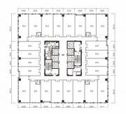 绿地中心写字楼A座18、20层户型平面图1474.56㎡