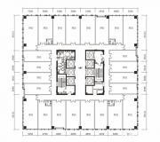 绿地中心写字楼A座17、19层户型平面图1474.56㎡