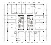 绿地中心写字楼A座6-16双数层户型平面图1474.56㎡
