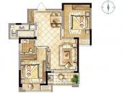 禹洲天境E2′户型2室2厅85㎡