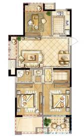 禹洲天境D5户型3室2厅108㎡