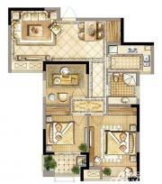 禹洲天境F5户型3室2厅94.34㎡