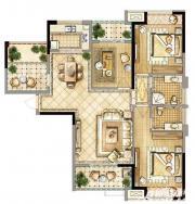 禹洲天境F4户型3室2厅126.62㎡
