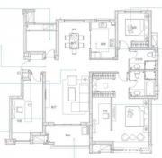 万科蓝山B5户型3室2厅136㎡