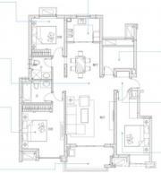 万科蓝山A5户型3室2厅113㎡