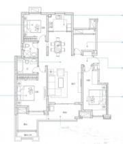万科蓝山A3户型3室2厅120㎡