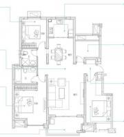万科蓝山A4户型3室2厅118㎡