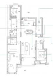 万科蓝山A1户型3室2厅143㎡