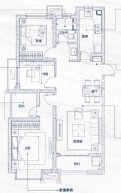 万科蓝山3+1创新户型3室2厅93㎡