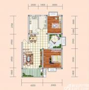 盛世新城B户型2室2厅88.7㎡