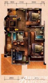 原树提香别墅H1户型314.32㎡(二层)3室78.77㎡