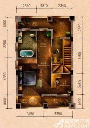 原树提香别墅G户型276.33㎡(三层)2室55.36㎡