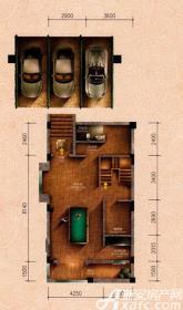 原树提香别墅G户型276.33㎡(负一层)1室1厅76.23㎡