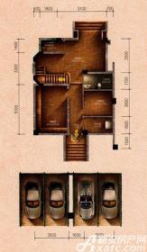 原树提香别墅H1户型314.32㎡(负一层)2室1厅81.41㎡