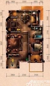 原树提香别墅H1户型314.32㎡(一层)1室2厅91.66㎡