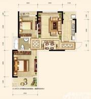 翡翠花园湖景苑D4户型2室2厅96㎡