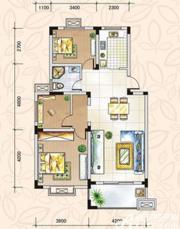 翡翠花园湖景苑翡翠花园湖景苑95平米三室两厅3室2厅95㎡