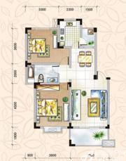 翡翠花园湖景苑翡翠花园湖景苑88平米两房两厅3室2厅88㎡