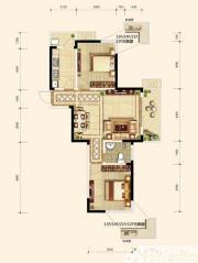 翡翠花园湖景苑D6户型2室2厅93㎡