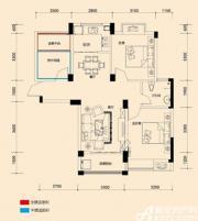 远大尚林苑A1户型3室2厅89㎡