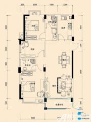 远大尚林苑H3户型3室1厅119㎡