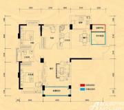 远大尚林苑G1户型4室2厅130㎡