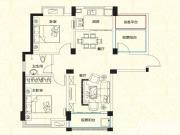 远大尚林苑A1户型3室2厅91.18㎡