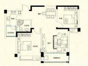 远大尚林苑E2户型2室2厅87.42㎡