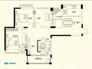 远大尚林苑E1户型3室2厅108.02㎡