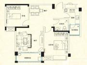 远大尚林苑C2户型2室2厅87.57㎡