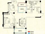 远大尚林苑B1户型3室2厅96.24㎡