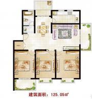 东一城DB户型3室2厅125.05㎡
