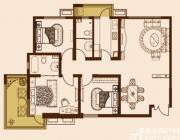 锦绣大地城D户型2室2厅116.2㎡