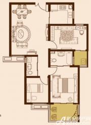 锦绣大地城F户型97.93㎡2室2厅97.93㎡