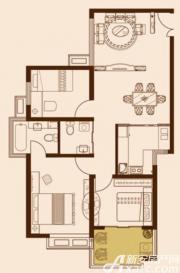 锦绣大地城E户型3室2厅92.05㎡
