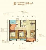 宝能城C地块B户型3室2厅88㎡