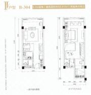 新城时代大厦II户型2室2厅56.41㎡